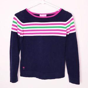 Lilly Pulitzer Mini Maria Sweater Navy Striped XL